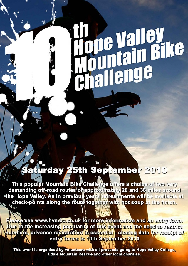 [Hope Valley Mountain Bike Challenge 2010 Poster]